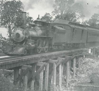 Swan Creeck Bridge,1893 Quando l'amore per la ferrovia e' anche RISCHIO! Il primissimo ponte era infatti...di legno!