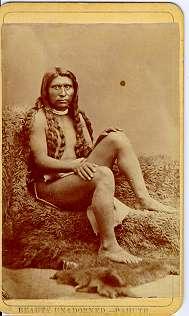 cdv1 indiano d'America 1800
