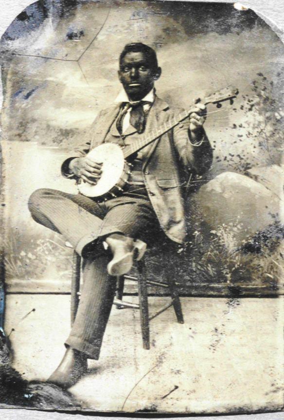 Un'immagine tratta ancora dalla tradizione dei Minstrel Show. Qui siamo nel 1870 e gli Afro-Americani, se vogliono sopravvivere, sono costretti ancora a parodiare se' stessi negli spettacoli itineranti.