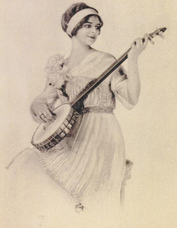 E qui una deliziosa immagine che ritrae il Banjo- Tubaphone,un'invenzione della Società Vega che acquistò e brevettò nuovi modelli di banjo,permettendogli di entrare a pieno titolo nella storia della musica moderna.