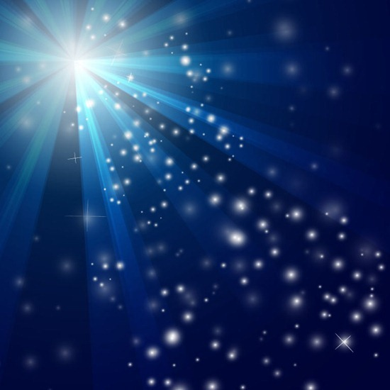 Blue-Christmas-Background-with-Snow-Vector-Art