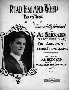 Al Bernard all'epoca del suo successo nel filone Vaudeville,1920 c.a.