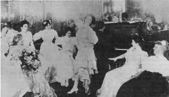 Una festa danzante nella famosa STORYVILLE. Fine 1800