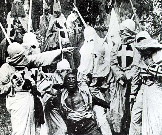 Bande del Ku Klux Klan 1868.  Il linciaggio dei neri era all'ordine del giorno.