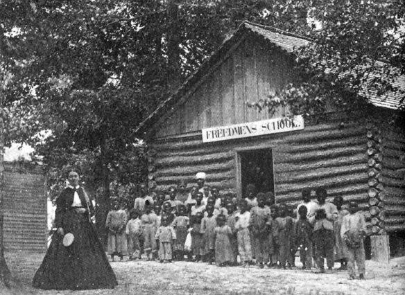 Una delle primissime scuole elementari per bambini neri,a  Memphis . 1864