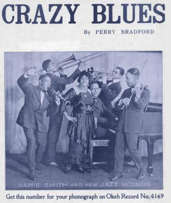 Copertina del disco Crazy Blues, 1920