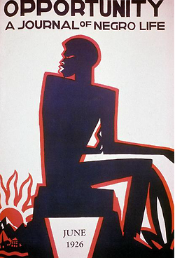 Copertina di uno dei primi giornali sulla cultura Afro Americana ad Harlem, 1926