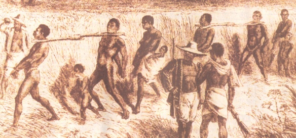 Disegno della tratta degli schiavi risalente alla fine del 1700