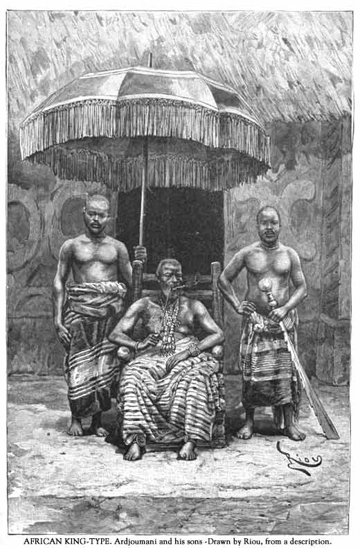 Re del Dahomey,fine 1700