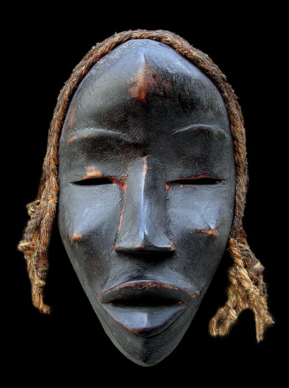 Maschera rituale Africana,1700 c.a.   Costa d'Avorio