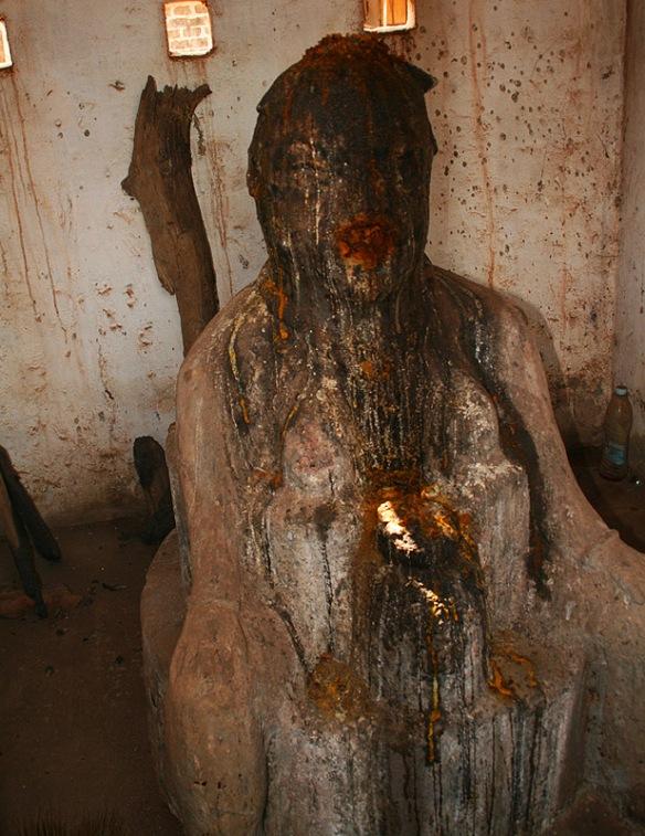 Un Papa Legbe della tradizione voodoo.  Dahomey,fine 1700