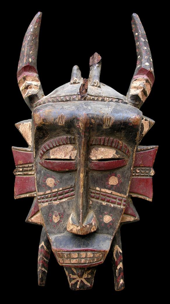 Maschera Sciamanica,1700 c.a.  Ancora Costa d'Avorio