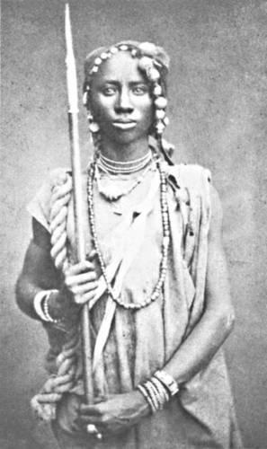 Rara foto di Amazzone del Dahomey.  Meta' 1800