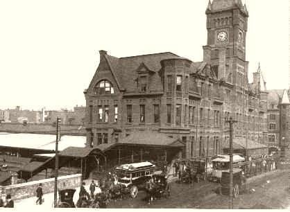 Una nascente Chicago del 1886   North West Railroad