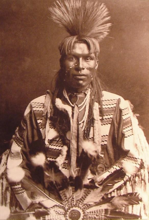 Indiano Cherokee Black. Notate l'evidenza somiglianza etnica con Charlie Patton.