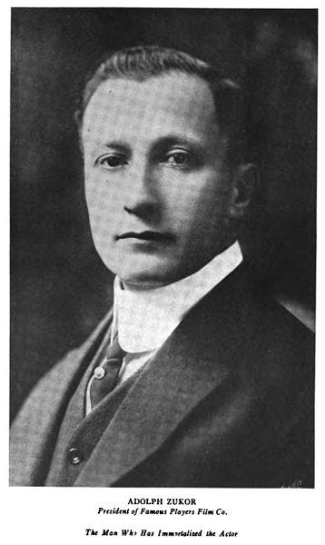 Adolph Zukor, colui che creo' La Paramount Records .