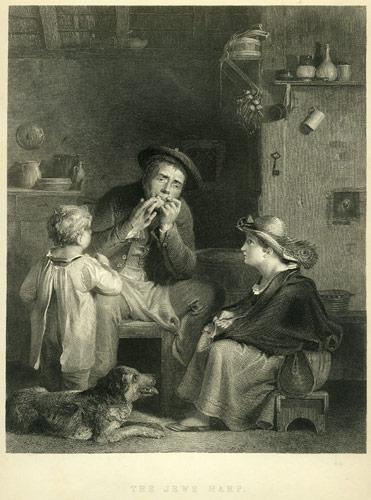 Un bel dipinto di David Wilkie del 1850 dimostra come gia' era conosciuta e utilizzata tra gli Ebrei la famosa Arpa.