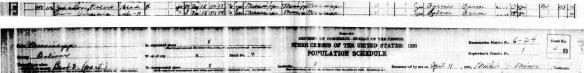 Purtroppo non esistono foto di Virginia Travis ma qui un estratto del censimento del 1930 mostra chiaramente che i due erano insieme e sposati.