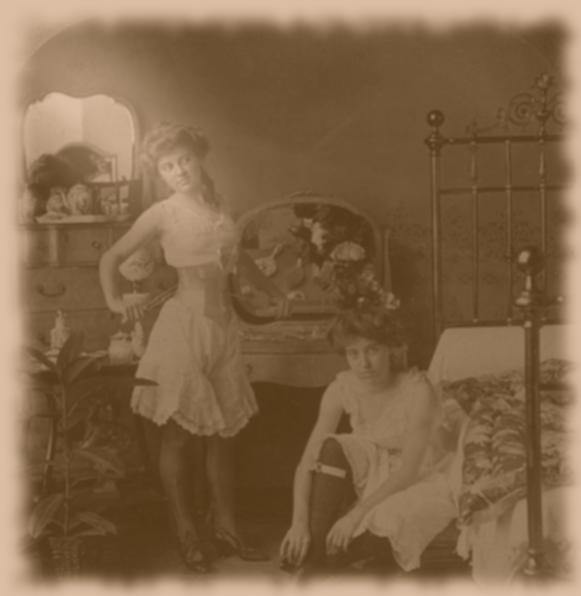 Tipico bordello Texano agli inizi del 1900.