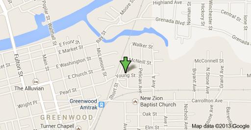 Questa mappa indica il punto esatto di Young Street in cui dimorava Johnson  in Baptist Town poco prima della sua morte.