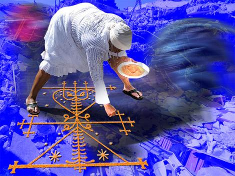 Il circolo magico che ,secondo le credenze voodoo e hoodoo,permette di entrare in comunicazione con papa Legba e il mondo degli Spiriti.