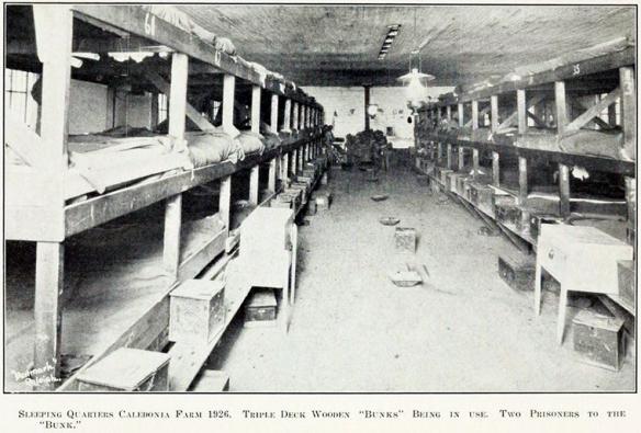 Queste le condizioni di una classica prigione Americana negli anni '20. Qui siamo nella Prigione di Caledonia, Sud Carolina, nel 1925.