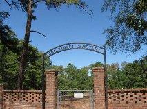 Il cimitero di Longstreet in Texas come appare OGGI.  La tomba di Texas Alexander è irreperibile.