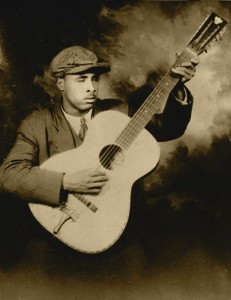 Blind Willie Mc Tell and his 12 string guitar.