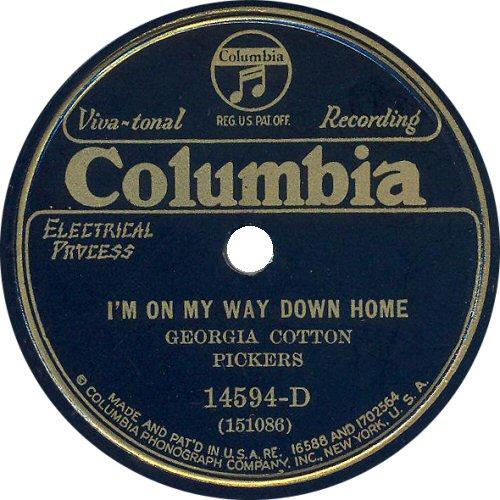 the Georgia Cotton Pickers for Columbia Records