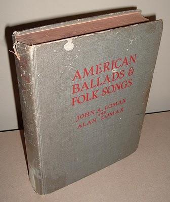 Lomax American Ballads and Folk Songs, 1934.