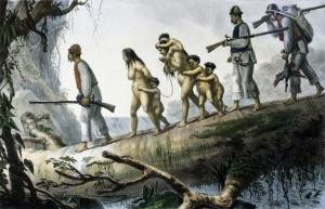 Indios slaves in America