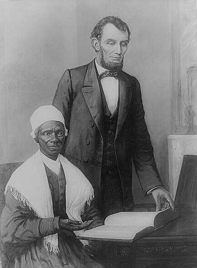 Sojourner Truth e Abramo Lincoln