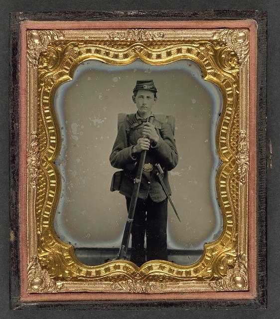 giovane soldato dell'Unione, 1865