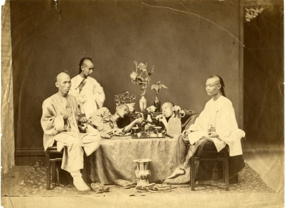 Cinesi fumatori d'oppio 1890