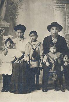 famiglia immigrati Cinesi 1880