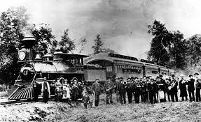 The Southern Pacific Railroad in Plaza LA 1876