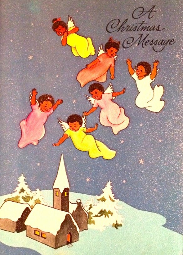 Afro American Christmas card 1954