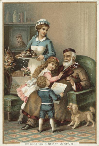 American Christmas Card 1889