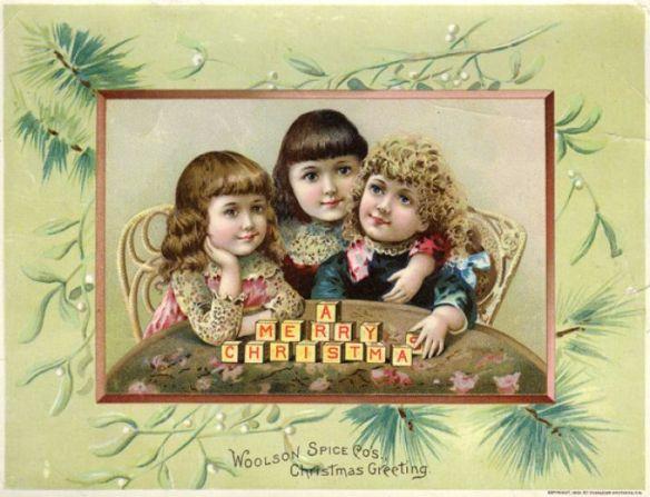 Wolson Spice Company Christmas card 1830