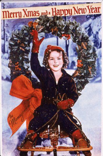 Shirley Temple Christmas card 1930