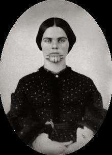 Olive Oatman nel 1857