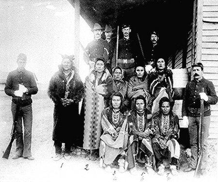 Crow prisoners Montana Agency 1887